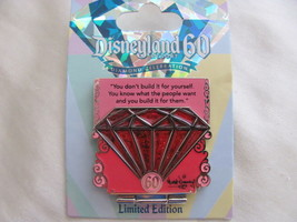 Disney Trading Broches 107709: DLR - 60th Anniversaire Rebours Séries - Rouge - $37.05