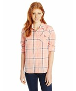 U.S. Polo Assn. Juniors' Long Sleeve Plaid Poplin Woven Shirt - $22.43+