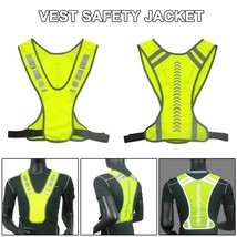 Reflective Vest Safe Jacket for Running Jogging Cycling Motorcycle Night... - $8.90