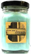 Live Your Dreams 6oz Victorian Square Glass Jar Soy Candle - Made with E... - $14.72