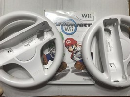 Mario Kart Wii (Nintendo Wii, 2008) with 2 Wheels & Manual Complete CIB - $44.00