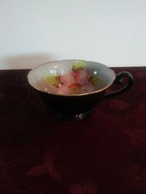 Trimont China,Occupied Japan Pink Floral on Grey Teacup - $7.69