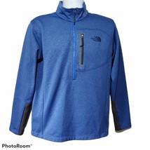 The North Face Jacket Mens Size Medium Canyonlands 1/2 Zip Fleece Pullover Blue - $29.65