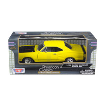 1969 Dodge Coronet Super Bee Yellow 1/24 Diecast Car Model by Motormax 7... - $27.72