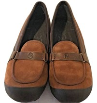Suede & Leather Brown Women Shock-Absorbing Merrell Slip-On Loafers Size 10M GUC - $56.06