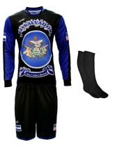 El Salvador Uniform Color Black and Blue Jersey,short,socks and number - $39.99