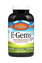 (New) Carlson E-Gems Elite - Natural Vitamin E 400 IU, 240 Softgels - $70.99
