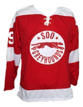 Any Name Number Soo Greyhounds Retro Hockey Gretzky Jersey Red Any Size image 4