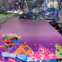 2 SHEETS Vintage Lisa Frank Galactic Sundae Ice Cream Outer Space Moon Radical image 2