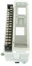 ALLEN BRADLEY 1791-0B16 I/O BLOCK 17910B16 SER. B REV. C01, 24VDC, MISSING DOOR