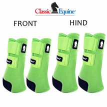 Classic Equine Legacy2 Horse Front Hind Sports Boots 4 Pck Lime Green U-02LG - $173.98