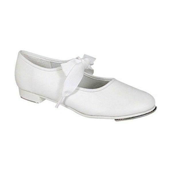 Capezio 625 Adult Size 3N (Fits Child Size 13.5) White Jr. Tyette Tap Shoe