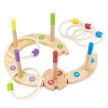Toy Playset, Wooden Wonders Custom Ring Toss Toddlers Girls Boys Kids To... - $27.99