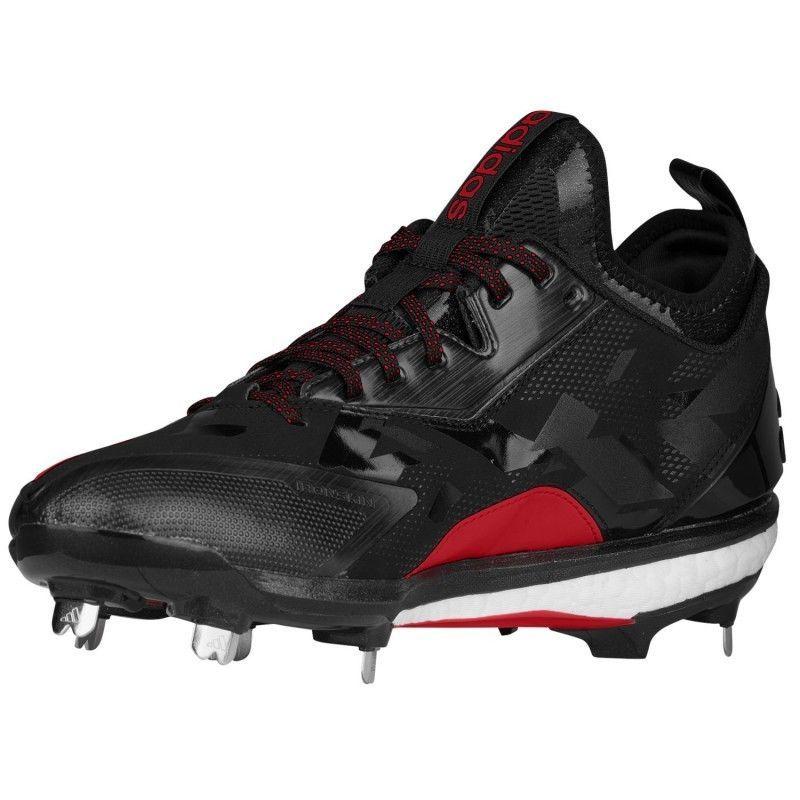 f5549dd78878 Adidas Energy Boost Icon 2.0 Metal Baseball Cleats Men's 13.5 Q16525 Black  Red