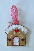 """Christmas Gingerbread House Ornament on felt 3"""" tall - $3.75"""