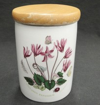"""Portmeirion Botanic Garden Small 4"""" Storage Jar Canister with Wood Lid Cyclamen - $14.84"""