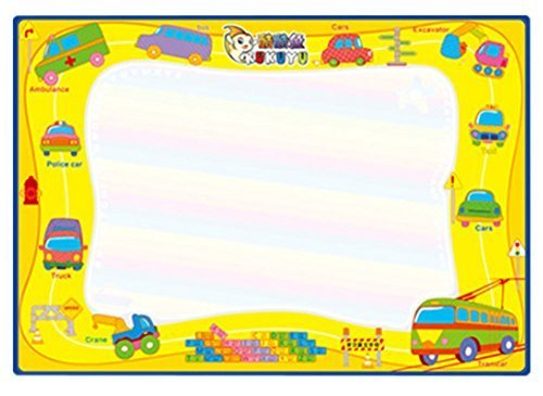 Children's Graffiti Carpet Washable Recycle Painting Fabric Yellow 5070 cm