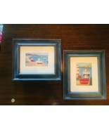 BOATS Prints Framed in Blue NURSERY New-Born UNIQUE Simon Hart Art - $21.38