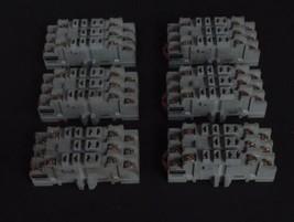 LOT OF 6 DAYTON 5X853 RELAY SOCKETS 15A 300V