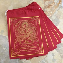 Red Kurukulla Tibetan Prayer Flag Single Roll contain 10 Flag - $5.74