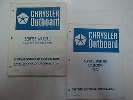 1973 Chrysler Outboard 25 and 30 HP Outboard Motors Service Repair Manua... - $14.80