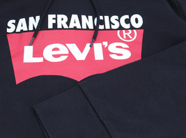 Levi's Men's Pullover Logo Graphic Hoodie San Francisco Red Tab Cotton Sweater image 7