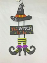 The witch is in Halloween sign wall decor glitter - $20.00