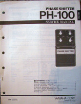 Yamaha PH-100 Guitar Phase Shifter Pedal Original Service Manual Schemat... - $14.84