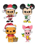 NEW SEALED Funko Pop Figure Disney Christmas Set / 4 Mickey Minnie Winni... - $69.80