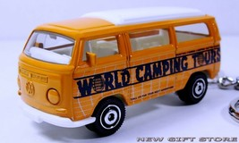KEY CHAIN ORANGE VW CAMPER WESTFALIA VOLKSWAGEN VAN MINI BUS CAMPING CAM... - $19.98