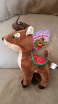"2015 Santa's Reindeer PRANCER New Licensed Plush NWT Tags 12"" Christmas ... - $9.99"