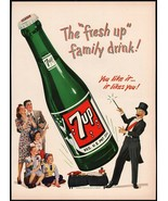 Vintage magazine ad 7 UP soda pop from 1948 magician and large bottle pi... - $11.69