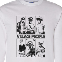 The Village People 70's 80's Disco Dance YMCA Long Sleeve Graphic T'shirt VP100 image 1