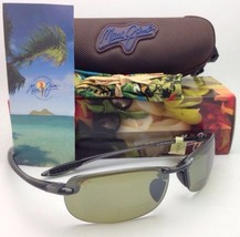 Maui Jim Sunglasses Makaha Reader + 1.5 Ht 805-11 15 Grey w/Green Polarized Lens - $229.00