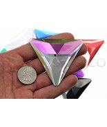 68mm Flat Back Triangle Acrylic Gems Pro Grade Individually Wrapped - 2 ... - $14.36