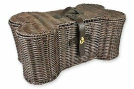 Pets Toy Storage Holder Woven Basket Dog Treats Leashes Blankets Organiz... - $58.65