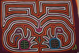 Kuna 5 Mayo Mola Hand stitched Applique Art Pelican Labyrinth Maze Texti... - $56.99