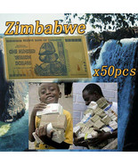 WR 50X Zimbabwe 100 Trillion Dollar Banknote Gold Plated World Money Col... - $61.99