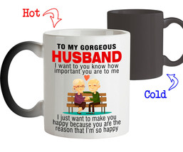 Magic Mug Gift for Husband You're the reason that I'm so Happy Husband G... - $19.95+