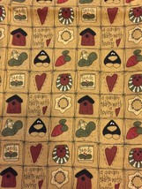 1995 Fabric Traditions A Garden Starts With A Loving Quilting Sewing Fabric - $7.70