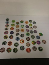 Vintage 90's Lot of 50 Collectible POGS All different Kinds See pictures... - $14.98