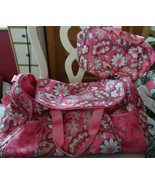 Vera Bradley Blush Pink Large Travel Duffel Gym Bag with Pockets plus co... - $76.00