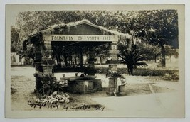 Old VTG DB Real Photo Postcard RPPC Fountain of Youth St. Augustine, Flo... - $14.65