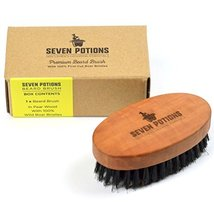 Seven Potions Beard Brush For Men With 100% First Cut Boar Bristles. Made in Pea image 6