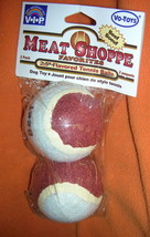 "Vo-Toys Inc V.I.P Meat Shoppe 2.5"" Beef  Flavored Tennis Balls 2 Pack #1... - $6.93"
