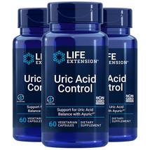 Life Extension Uric Acid Control 3X60 Caps Ayuric 500mg Terminalia bellerica - $44.53