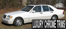 Mercedes S Class W140 Stainless Chrome Pillar Posts by Luxury Trims 1992... - $69.80