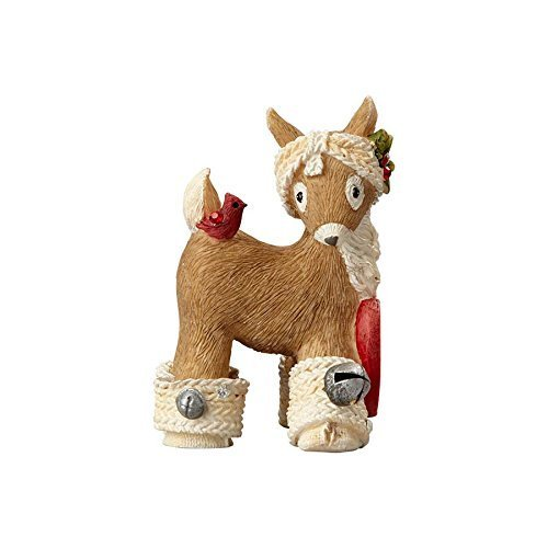 Primary image for Department 56 Heart of Christmas Reindeer With Cardinal Stone Resin Figurine, 2.