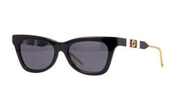 NEW Gucci Sunglasses GG0598S 001 Black/Grey Lens Design 53mm - $281.30