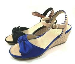 Aerosoles Cake Over Espadrille Suede Wedge Ankle Strap Sandals Choose Sz/Color - $69.00